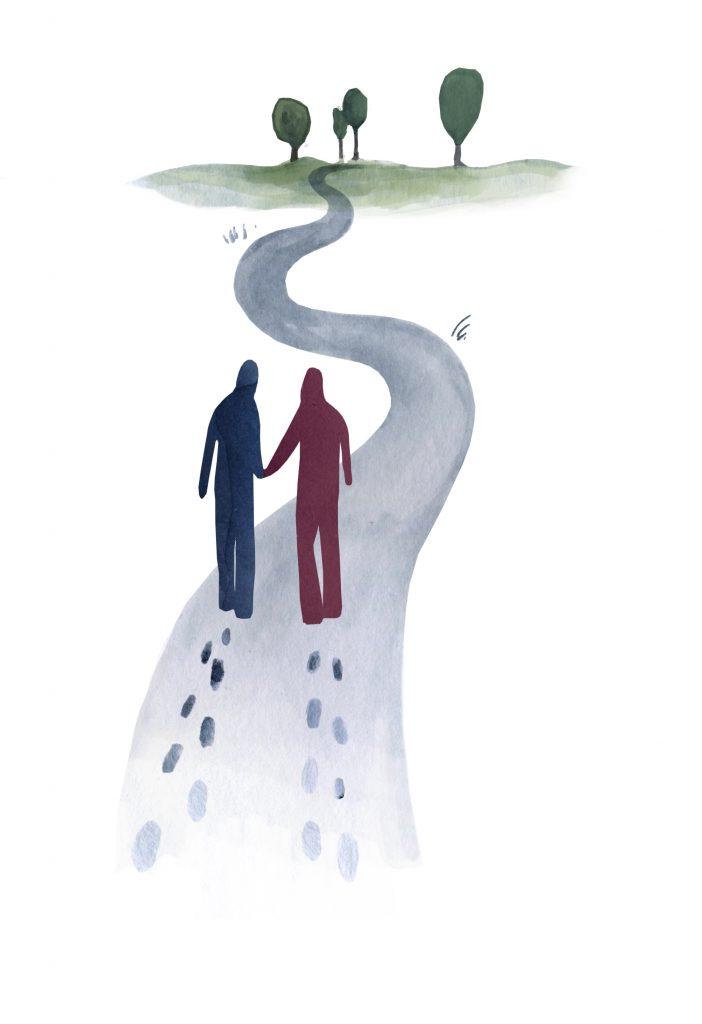 Zelf in beweging komen, hulp vragen, ontmoeten, goede gids, samen oplopen